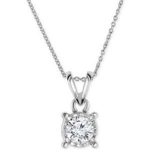 1.25 Carats Solitaire Round Diamond Necklace Penda